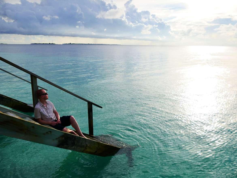 Se détendre en regardant l'ocean indien
