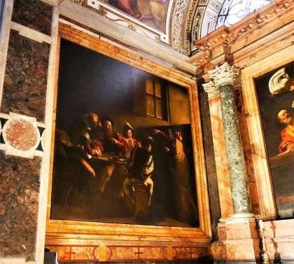 Caravage à l'Eglise San Luigi dei Francesi à Rome Italie