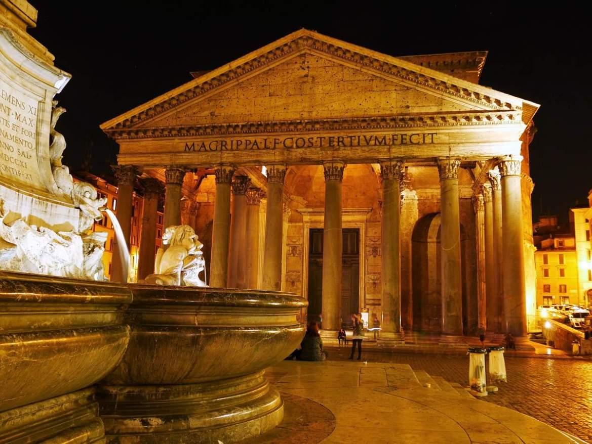 Week-end en amoureux à Rome avec le Panthéon de nuit