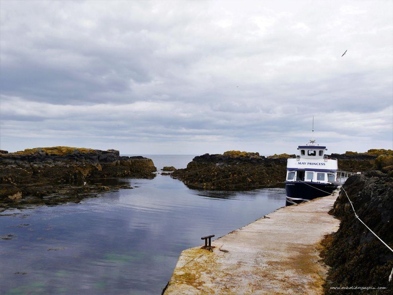 Notre bateau pour aller à l'Ile de May en Ecosse