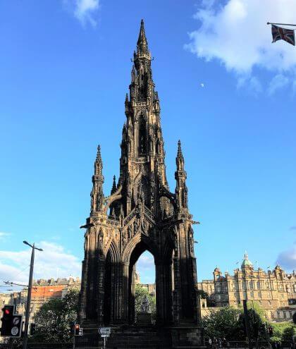 Scott Monument à Edimbourg Ecosse