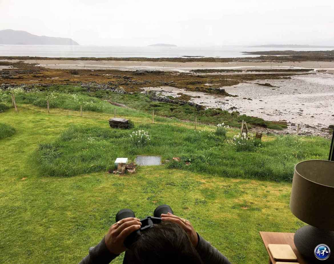 Vue depuis le bed and breakfast Ti an Dochais sur l'Ile de Skye