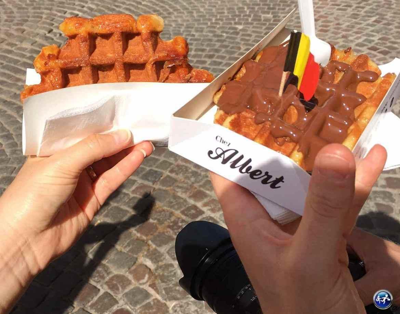 Gaufre à manger à Bruges