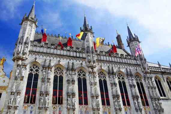 L'Hôtel de ville de Bruges en Belgique