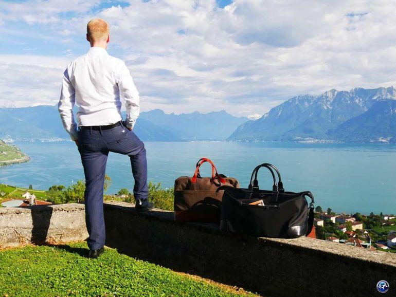 Avec nos sacs de voyage on est prêt pour un week-end chic et cosy en amoureux