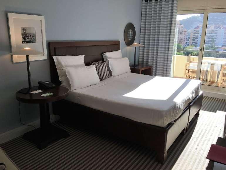 Notre chambre à l'hôtel Columbus à Monaco