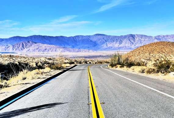 Road trip en Californie du Sud en route vers Anza Borrego