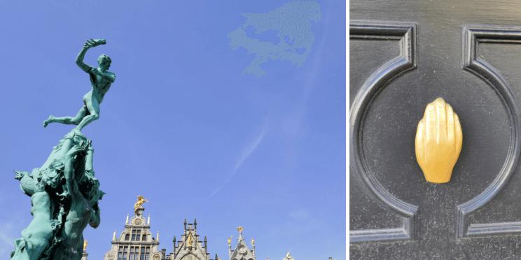 La main d'Anvers et sa légende avec le romain et le géant