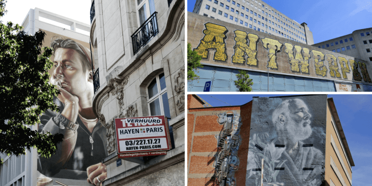Street art baroque découverte en visiter Anvers à pied