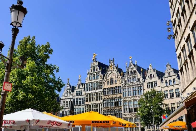 Vue sur la Grand-Place d'Anvers