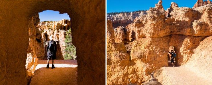 Les petites arches de la Queens Garden Trail à Bryce Canyon