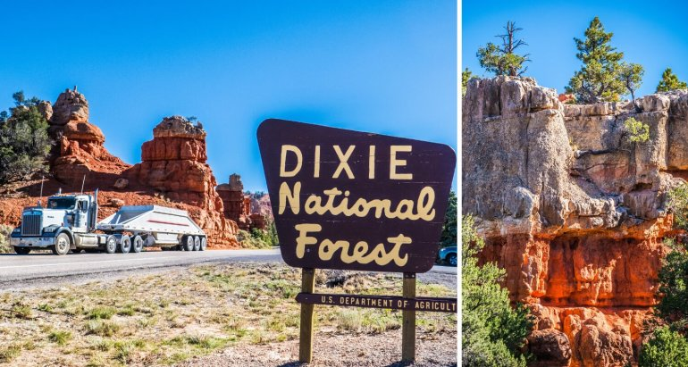 Route 12 Dixie National Forest, road trip Ouest américain