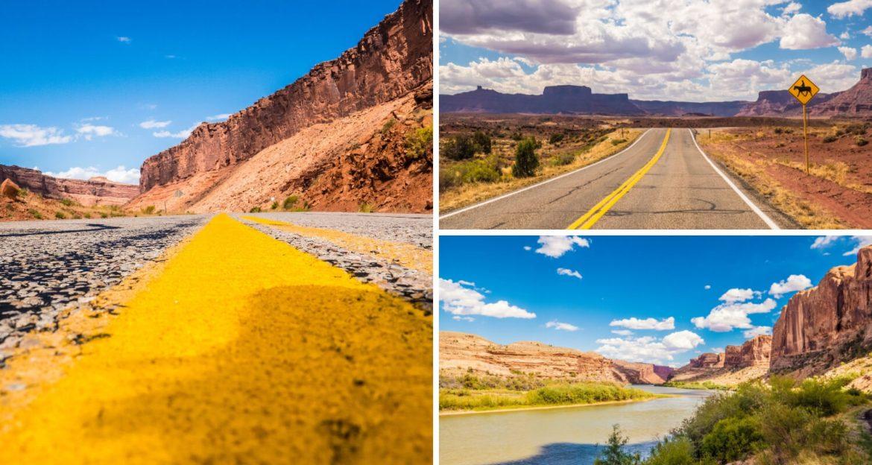 Les gorges de la Colorado River vers Moab dans l'Utah