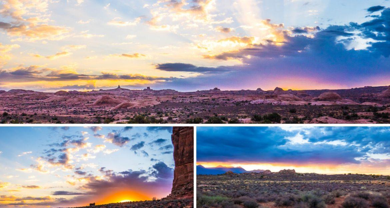 Lever de soleil à Arches à Moab en Utah