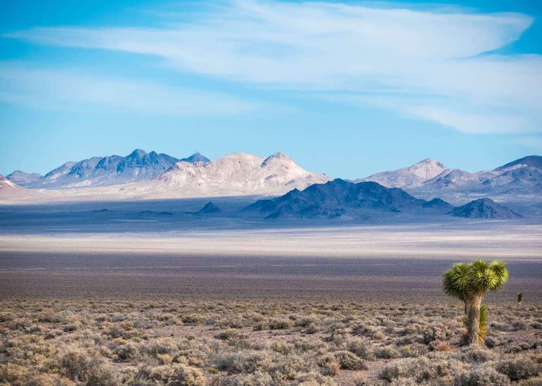 Paysage lunaire et désertique du Nevada lors du road trip dans l'Ouest américain