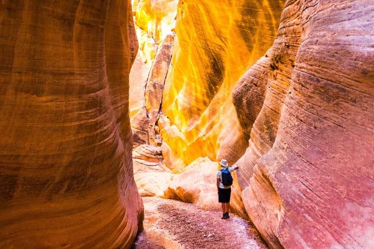 Slot canyons de Willis Creek au Grand Staircase Escalante dans l'Utah