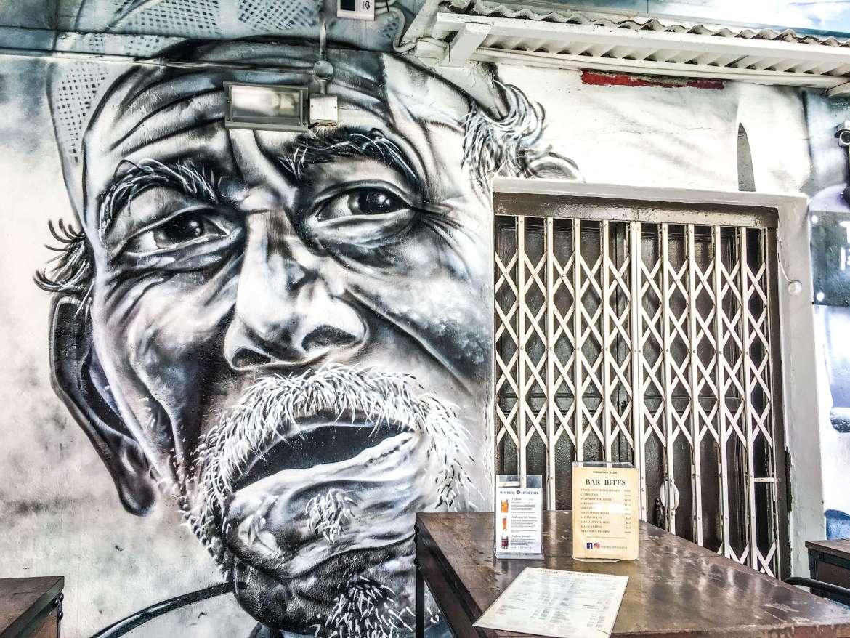 Fresque Haji Lane à Singapour