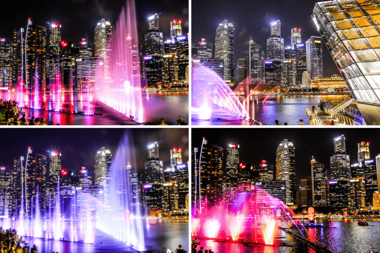 Spectra à Marina Bay Sands Singapour