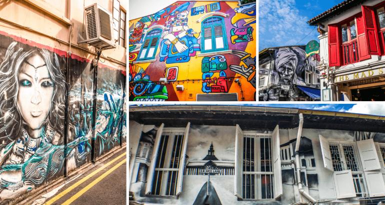 Street Art Haji Lane à visiter à Singapour