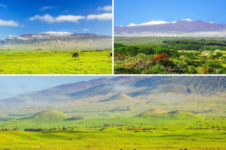 Vue sur le Mauna Kea à Big Island