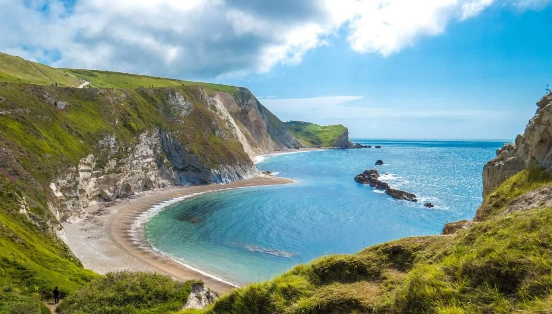 Man O'War Beach sur la côte jurassique Royaume-Uni