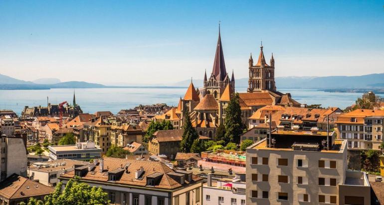 Vue depuis Mont Calme Lausanne