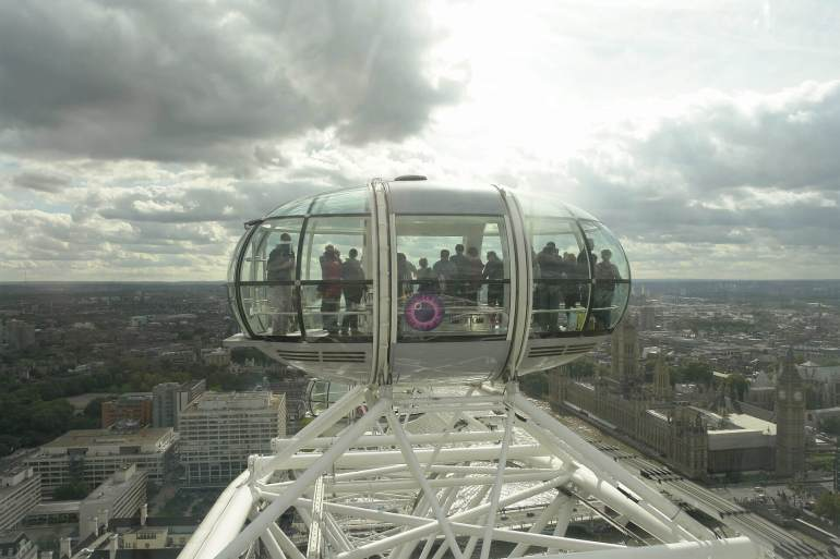 Vue depuis la grande roue de Londres