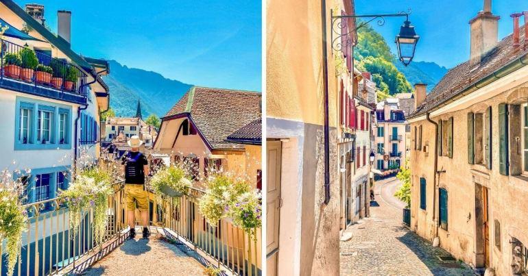 Vieille ville de Montreux et ses charmantes ruelles