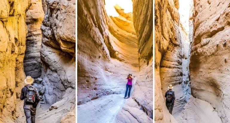 South Fork Palm Wash Slot Canyon randonnée Anza Borrego State Park