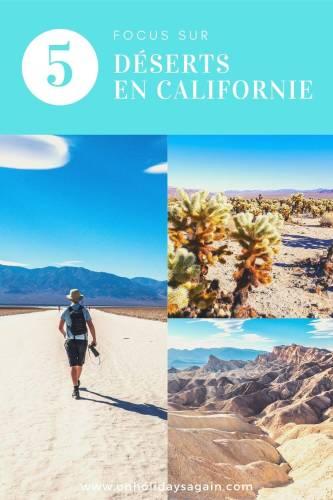 Focus sur 5 déserts en Californie