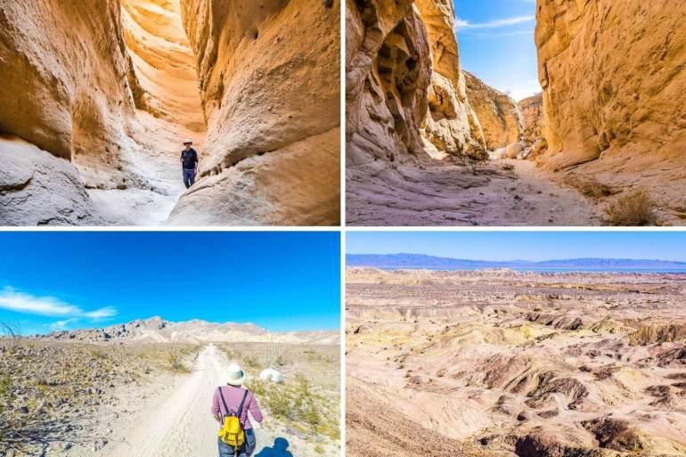 Slot canyons désert californien Anza Borrego