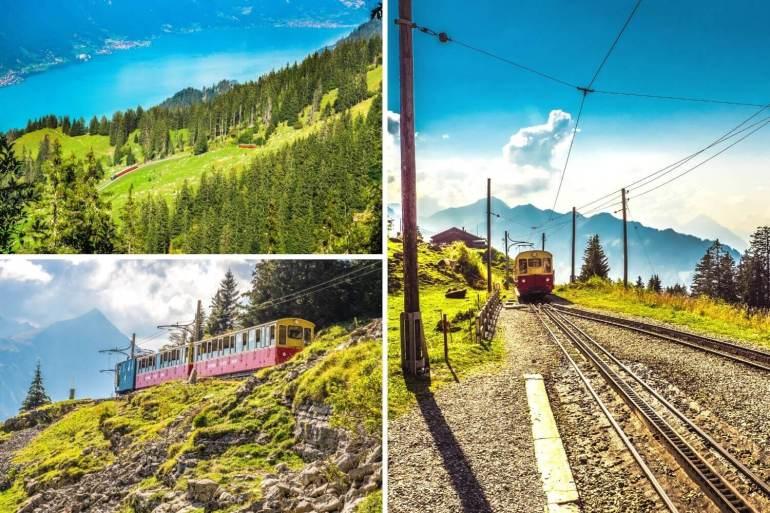 Schynige Platte Bahn train à crémaillères