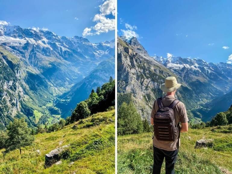 Muerren viewpoint vue sur la Vallée de Lauterbrunnen