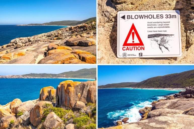 Parc national Torndirrup Albany Blowholes côte ouest Australie