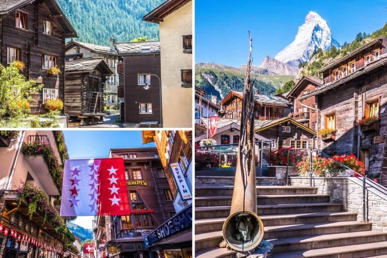 Village de Zermatt week-end romantique en Valais