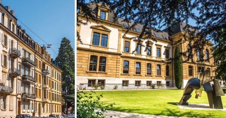 Rue Beaux-Arts et Université à voir à Neuchâtel
