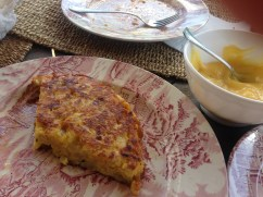Wonderful tortilla made by my husband, James, for lunch on holiday in Andalucia.