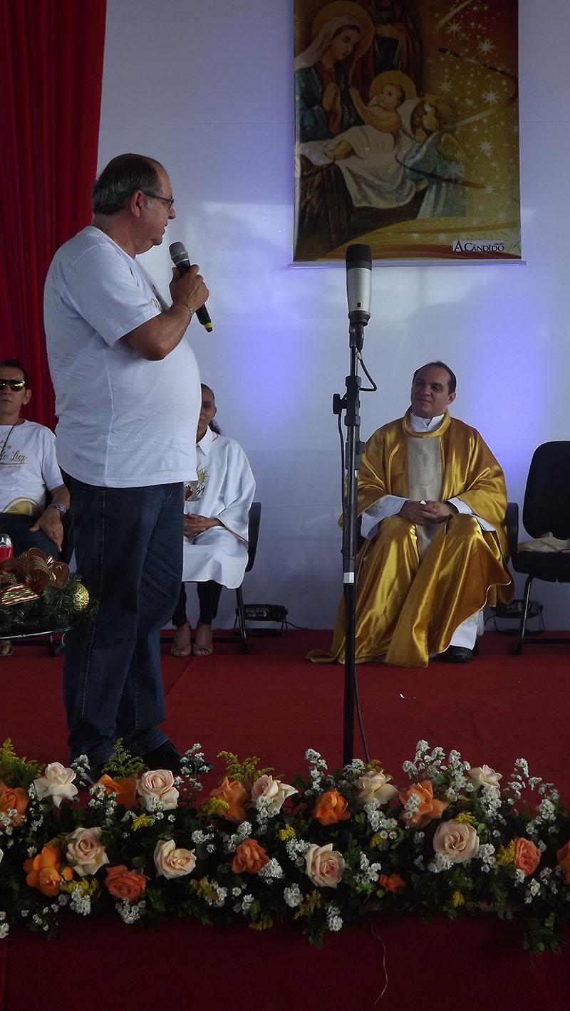 O empresário Alberto Pereira agradeceu a presença de Pe. Nilson e falou da força da fé e da união