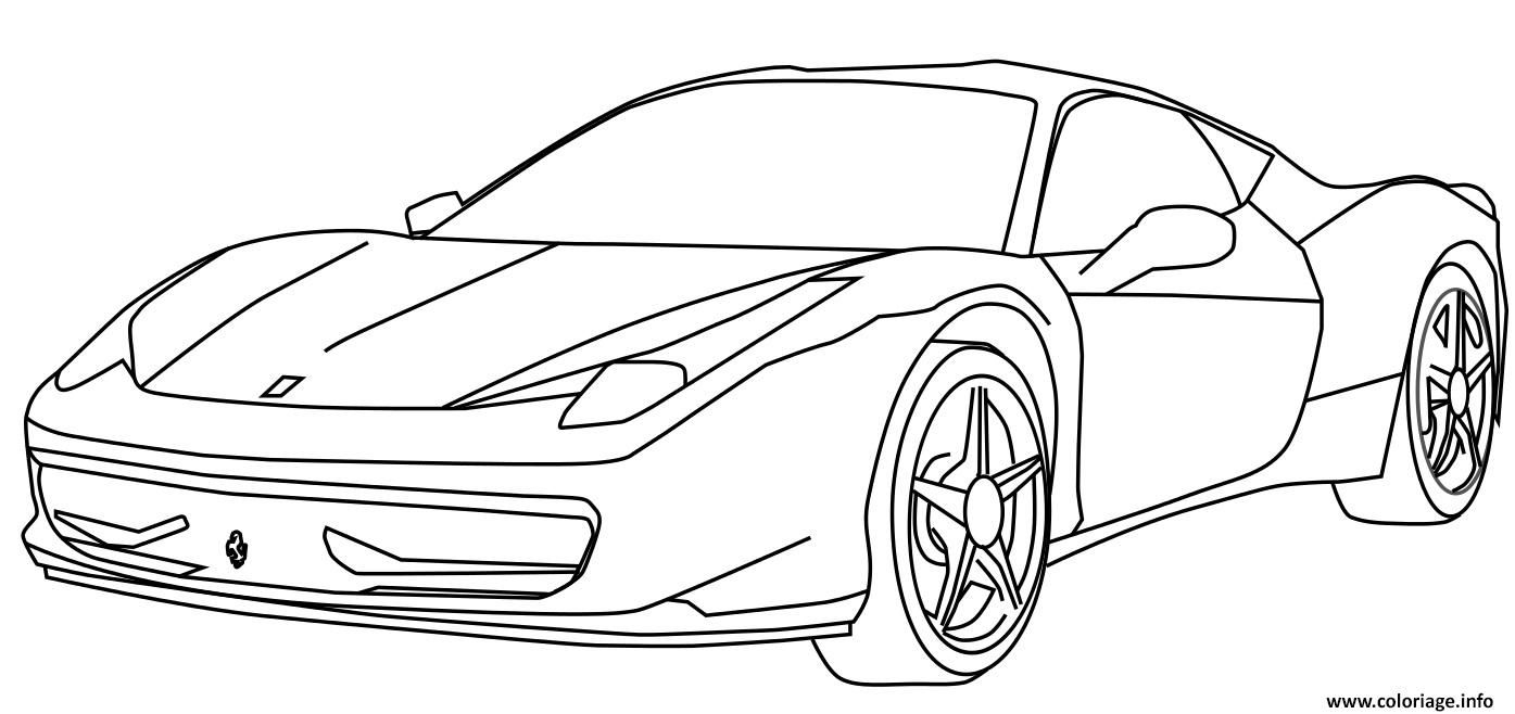 Ferrari Race Automotive Coloring Pages Printable Coloring Pages On Ideal