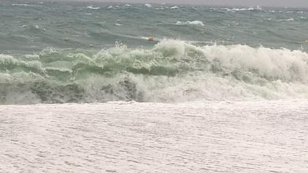 Mar con tormenta en Tossa