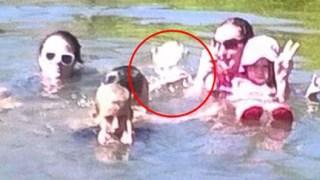 家族写真を撮ったら、1915年に溺死した少女の霊が写真に写りこむ!!