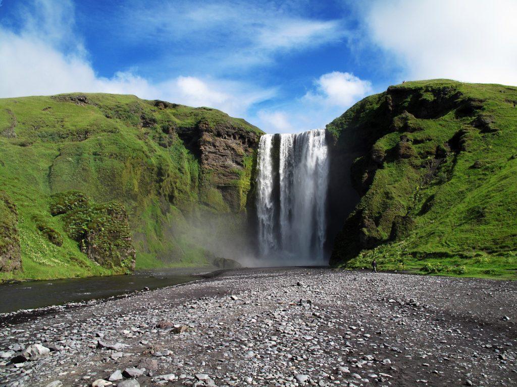 La casacade de Skogafoss en Islande