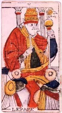 Il Papa e le immagini maschili dei Tarocchi