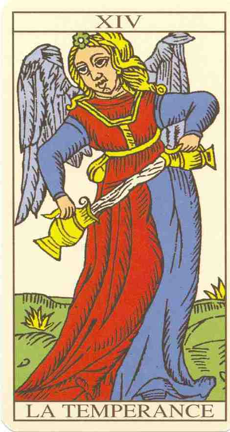 Jungian interpretation of Tarot: The Temperance Tarot card