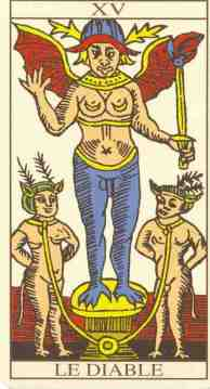 Numbers dream meaning and the three characters in the Devil Tarot card