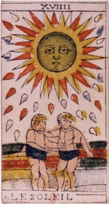 The Sun Tarot card and number three in dreams