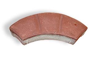 Фотография Тротуарная плитка арка красный цвет
