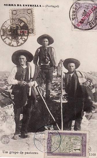 Serra da Estrela© - Um grupo de pastores no princípio do séc. XX