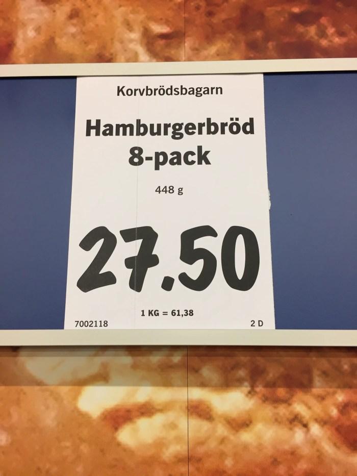 Korvbrödsbagarens alternativ. 8-pack. Men kilopriset i prncip det dubbla!