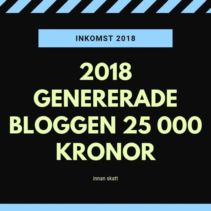 Jag tjänade 25 000 kronor på bloggande 2018